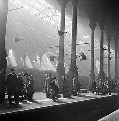 Liverpool Street Station, London by John Gay. Vintage London, Old London, London City, London History, British History, Old Train Station, Train Stations, Liverpool Street, Liverpool Uk