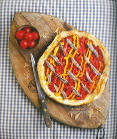 Resep: Tamatie-en-ansjovistert Quiche Pan, Breakfast, Sweet, Desserts, Food, Morning Coffee, Tailgate Desserts, Postres, Deserts