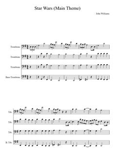 Sheet music made by Lizzie382 for 4 parts: Trombone, Bass Trombone