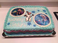 Frozen theme sheet cake