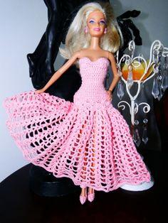 Barbie Crochê Miniaturas e Coisas Mais - De Tudo Um Pouco e Muito Mais: Vestido Longo de Crochê Para a Barbie
