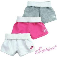 Sport shorts with fold waistband and heart logo