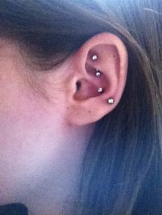 Snug and Rook piercing