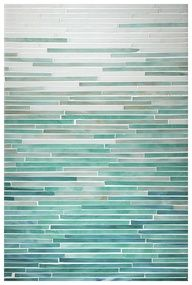 Opal, Aqua, Turquoise, Peacock Topaz Ombre Blend, Katami Glass Mosaic Collection by Complete Tile Collection.