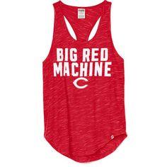Women's Cincinnati Reds PINK by Victoria's Secret Red Opening Day Racerback Tank Top - MLB.com Shop