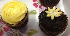 Yellow and White Cake and Cupcakes