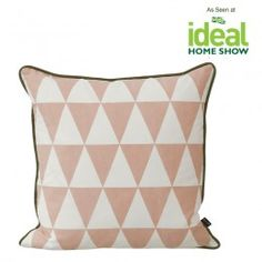 Ferm LIVING Large Geometry Cushion (Rose)