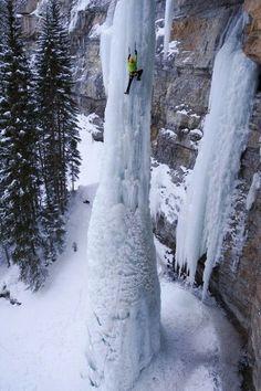 Frozen waterfall, Vail, Colorado