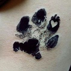 How to get a memorial tattoo & matching cremation urn - puppy paw print tattoo