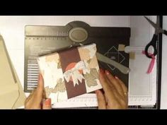 """Card Keeper Box using Envelope Punch Board - YouTube  Finished Box is 5 6/8 x 4 3/8"""""""