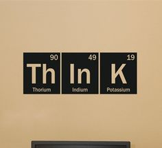 Think Science Periodic Table Elements Living Room Home School Office Vinyl Art Carving Wall Decal Sticker for Home Window Decor