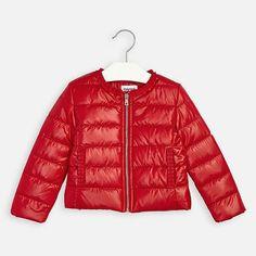 Przejściowa kurtka dla Mini girl Mayoral Windbreaker Jacket, Winter Jackets, Vogue, Zip, Fabric, How To Wear, Clothes, Fashion, Winter Coats