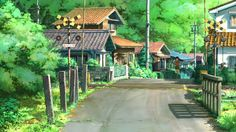 anime scenery, background