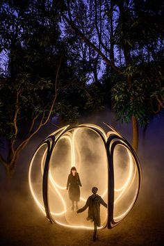 Landscape Architecture, Landscape Design, Bühnen Design, Instalation Art, Misty Forest, Forest Light, Interactive Art, Interactive Installation, Landscape Lighting