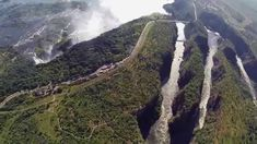 """The ultimate way to truly appreciate the scale of the Victoria Falls - from a helicopter. Shearwater Victoria Falls """"Flight of Angels"""" is a must-do when you'. Victoria Falls, Safari, Beautiful Places, Zimbabwe, Water, Angels, Travel, Outdoor, Gripe Water"""
