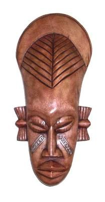 Spark the conversation and intrigue your guests with this authentic hand-carved African Frafra Mask wall accessory. This mask was hand-crafted by members of the Frafra Tribe of Northern Ghana with special markings signifying intelligence and wisdom. Arte Tribal, Tribal Art, Ghana Culture, Sculpture Art, Sculptures, African Tattoo, Afrique Art, African Tribes, Soul Art