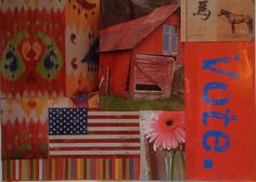 Vote. Paper/Yes!Paste Collage.  ©2008twmcdermott