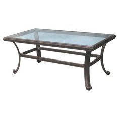 Outdoor Darlee Glass Top Coffee Patio Table - DL50-B
