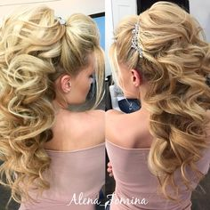 Pin by Kerisa on Hair, Skin, Nails (With images) Creative Hairstyles, Elegant Hairstyles, Pretty Hairstyles, Wedding Hairstyles, Formal Hairstyles, Wedding Hair And Makeup, Bridal Hair, Hair Makeup, Big Blonde Hair