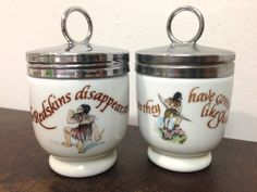 Pair of Royal Worcester Egg Coddlers  Peter Pan  by Thebluehaven, $29.00