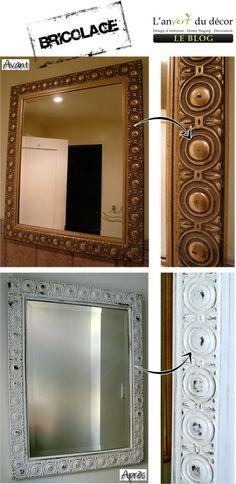 Transfo d'un vieux miroir.