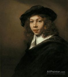 Rembrandt Van Rijn Young Man In A Black Beret oil painting reproductions for sale