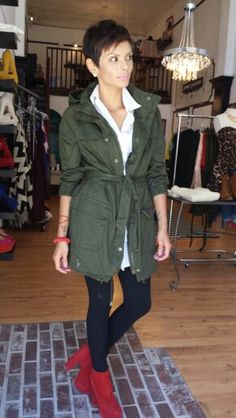 Green Cargo Jacket Green Cargo Jacket, Military Jacket, Fall Winter, Shirt Dress, Elegant, Jackets, Shirts, Outfits, Dresses