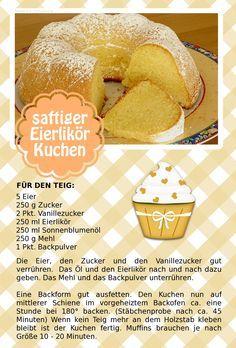 Der beste Eierlikörkuchen der Welt. Auch für Muffins geeignet!