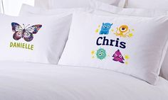 One or Two Personalized Teen's or Kid's Pillowcases from Monogram Online (83% Off)