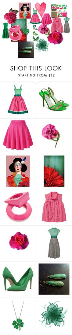 FOR YOU by talma-vardi on Polyvore featuring Lela Rose, J.Crew, Collectif, Jimmy Choo, Nine West, Maison Margiela and Kaliko