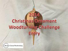 Christmas Ornament woodturning
