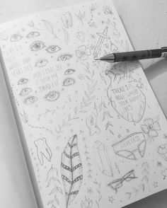 Giving myself a challenge for the next few weeks to only draw in pencil and to fill my entire sketchbook pages as best I can. I've spent too long focusing on the end goal it's time to relearn the process   #illustration #art #drawing #sketch #sketchbook #doodle #pencil #lineart #draw #eyes #plants #hearts #wildlife #instaart #feathers #diamond #teeth #lyrics #quotes #process #development #blackandwhite #monochromatic