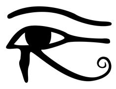 Horus is the Egyptian god protector of sky, its image is a man with a hawk's head, his right eye represents the sun and the left represents the moon.