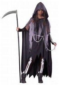Image result for Grim Reaper Halloween Costumes for Girls