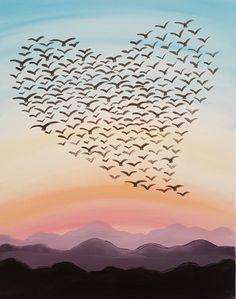 Love Is In The Air III at Roanoke City Market Building - Paint Nite Events near Roanoke, VA>