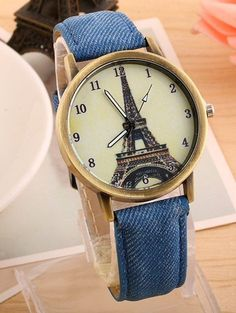Watch Unisex Eiffel tower Faux leather Deluxe #Eiffeltower #Casual