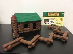 The Original Lincoln Logs Bicentennial Edition 99 Pcs All Wood Building Set | eBay