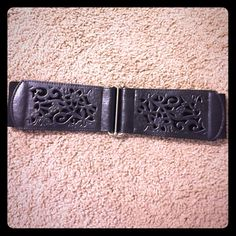 """NWOT Forever 21 Laser Cut Belt Super cute belt from Forever 21. Meant to be worn at natural waist. Laser cut in front and stretchy around back. 28.5"""" long. Never worn. No trades. Forever 21 Accessories Belts"""