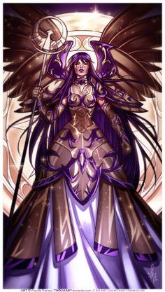 Saori with Athena Myth Cloth by TholiaArt.deviantart.com on @deviantART