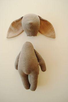 Bunny or bear soft toy sewing pattern / PDF tutorial от willowynn