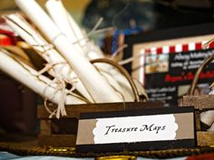 #DIY Treasure Maps - print coloring pages on ivory paper, burn the edges, roll it, and tie a twine/string around it - voila! More DIY party inspiration on 3d-memoirs.com