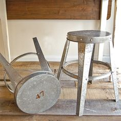Galvanized Numbered Stools from Redefine Home. Love!