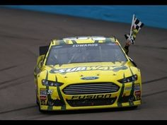 With a green-white-checkers finish, Carl Edwards wins a nail-biter to break his 70-race winless streak.    Included is his patented victory backflip!    For more NASCAR news, check out: http://www.NASCAR.com