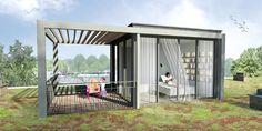 Architect ontwerpt tuinkamer