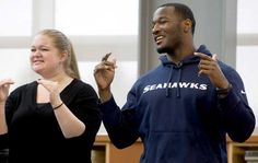 Seahawks' football player who's also deaf Derrick Coleman talks to kids in Tacoma Wash. who are part of a Special Hearing Loss Program about the challenges he faced growing up having lost his hearing. This is a great article on how people with hearing loss can do anything and how this particular person gets by in the world of football.