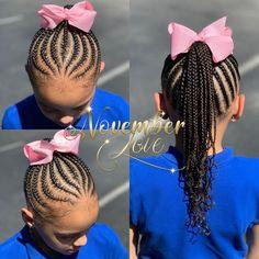 DM me for booking information! Braids for kids Toddler Braided Hairstyles, Toddler Braids, Lil Girl Hairstyles, Black Kids Hairstyles, Natural Hairstyles For Kids, Braids For Kids, Girls Braids, Natural Hair Styles, Children Braids