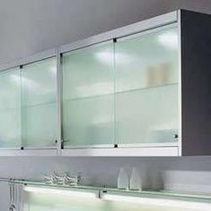 Sliding Kitchen Cabinet Doors Need Them Clear And White Like Blue Door S Design