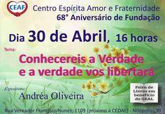 Centro Espírita Amor e Fraternidade Convida para a sua Palestra Pública – Nilópolis - RJ - http://www.agendaespiritabrasil.com.br/2016/04/29/centro-espirita-amor-e-fraternidade-convida-para-sua-palestra-publica-nilopolis-rj/