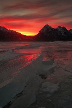 Fire & Ice, Abraham Lake in western Alberta , Canada