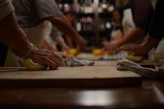 Making #cavatelli - handmade semolina dough #pasta! Cooking class at #latavolamarche